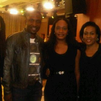 Aunty Ijeoma with Darey and her friend