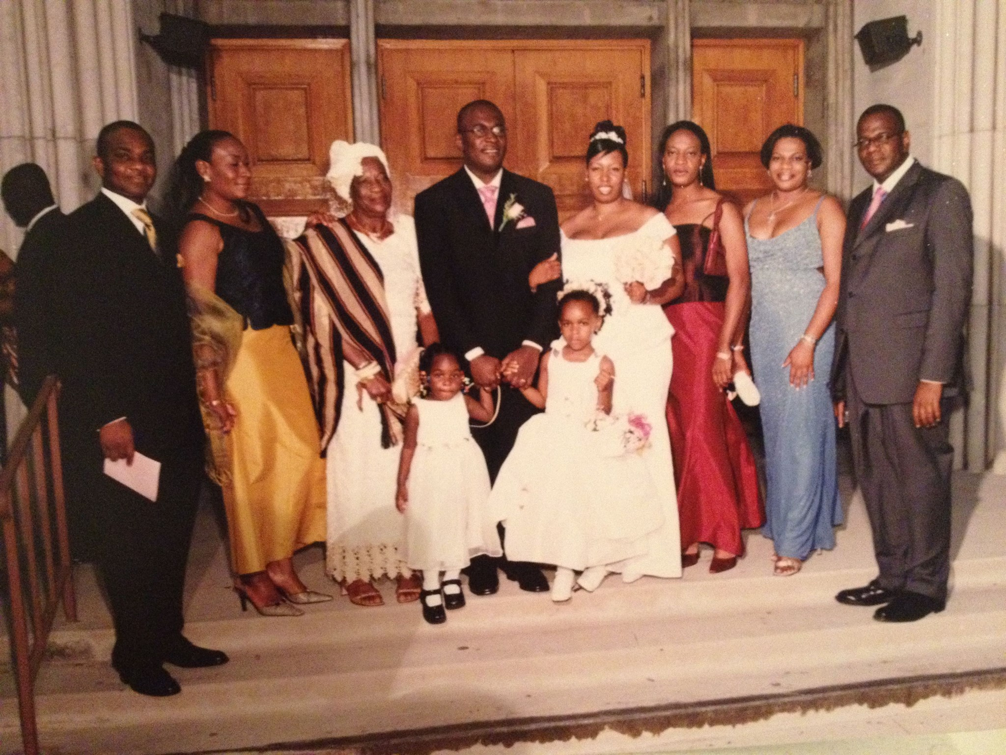 Ijeoma & family at Amechi's wedding (2002)