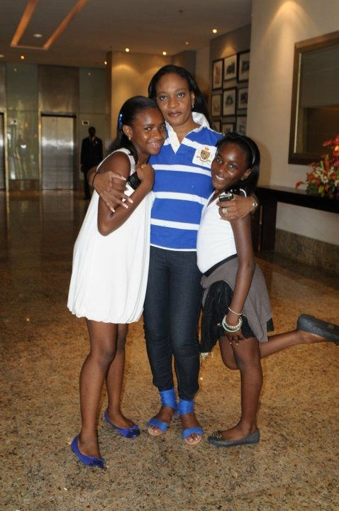 Aunty Ijeoma, Natachi and I @ my 13th birthday