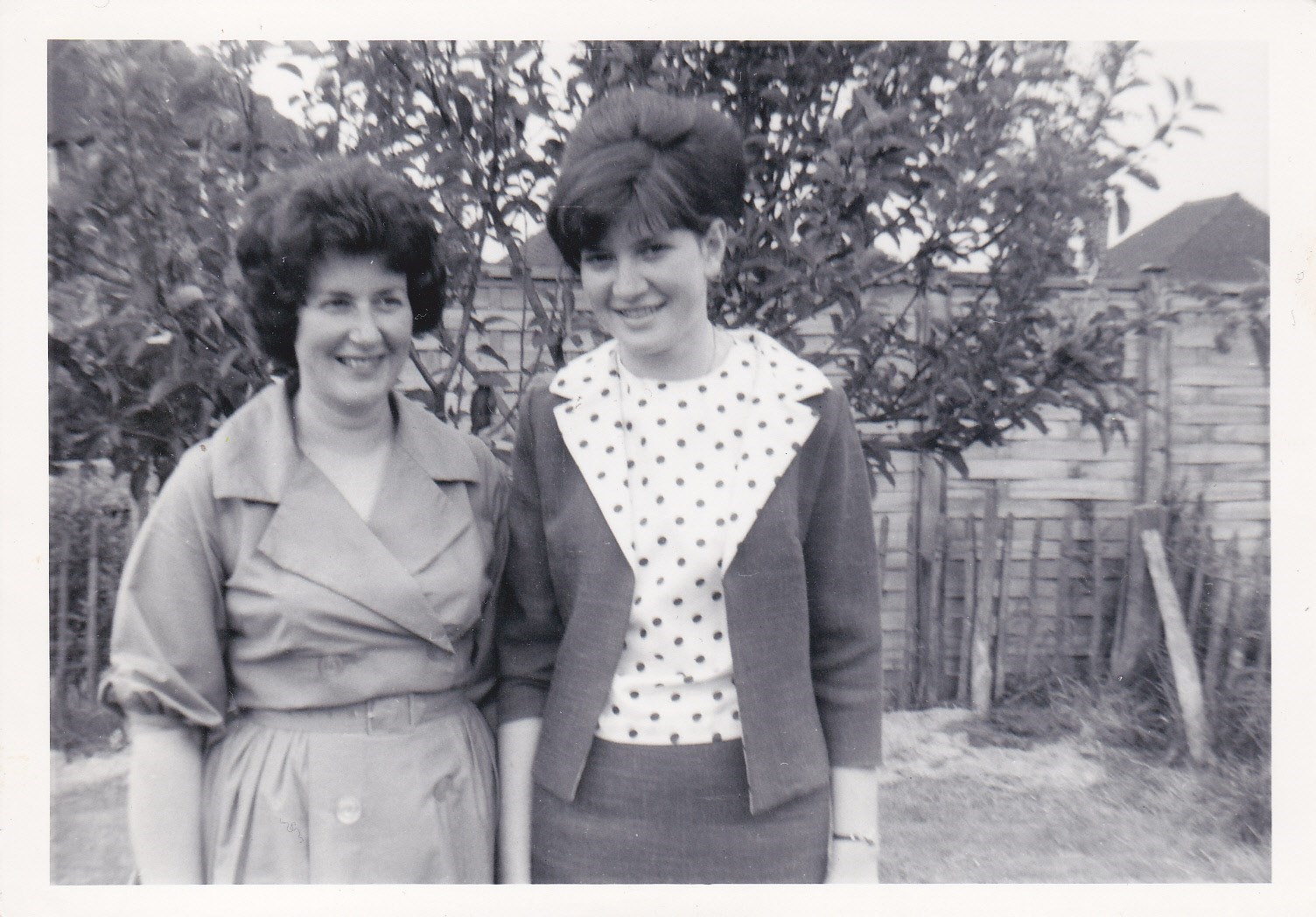 Eileen and Pam, the two sisters on Phil's christening day