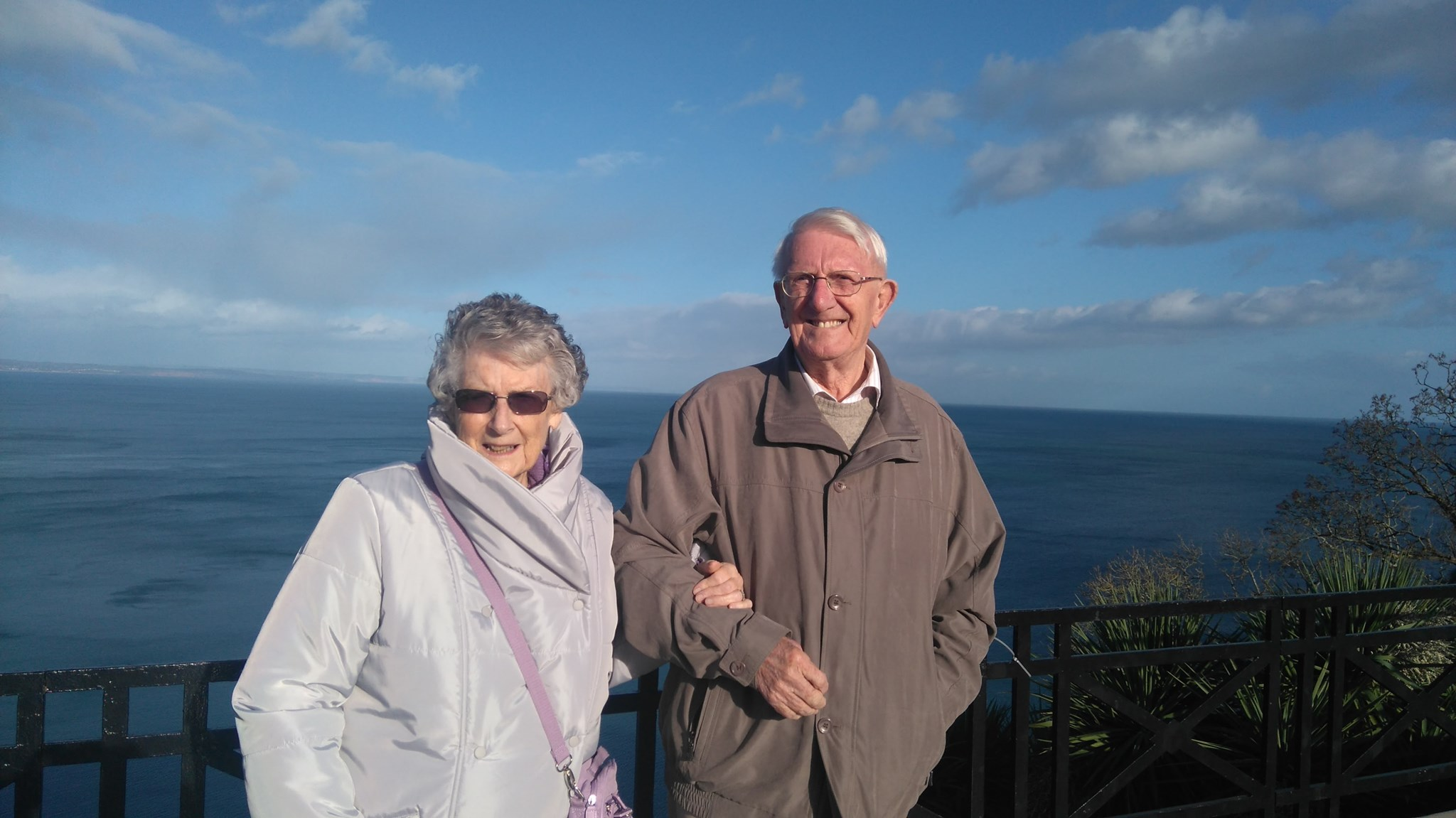 Eileen and Neil on a lovely sunny day in Torquay