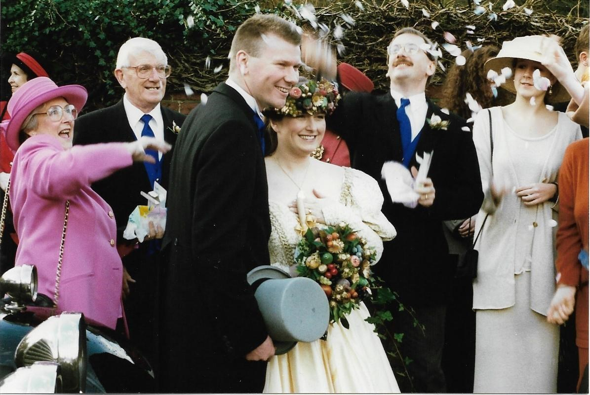 Brilliant photo at Pam and Andy's wedding December 1994