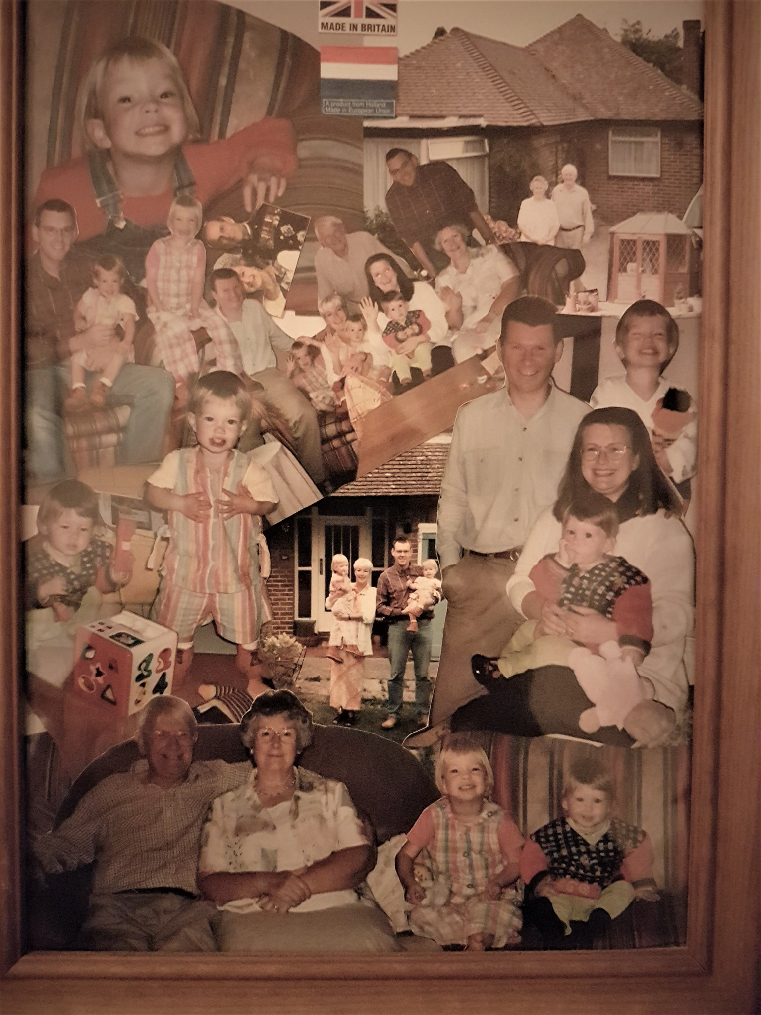 Hamilton Family Collage complete with a Dutch Flag and the Queen & Prince Philip
