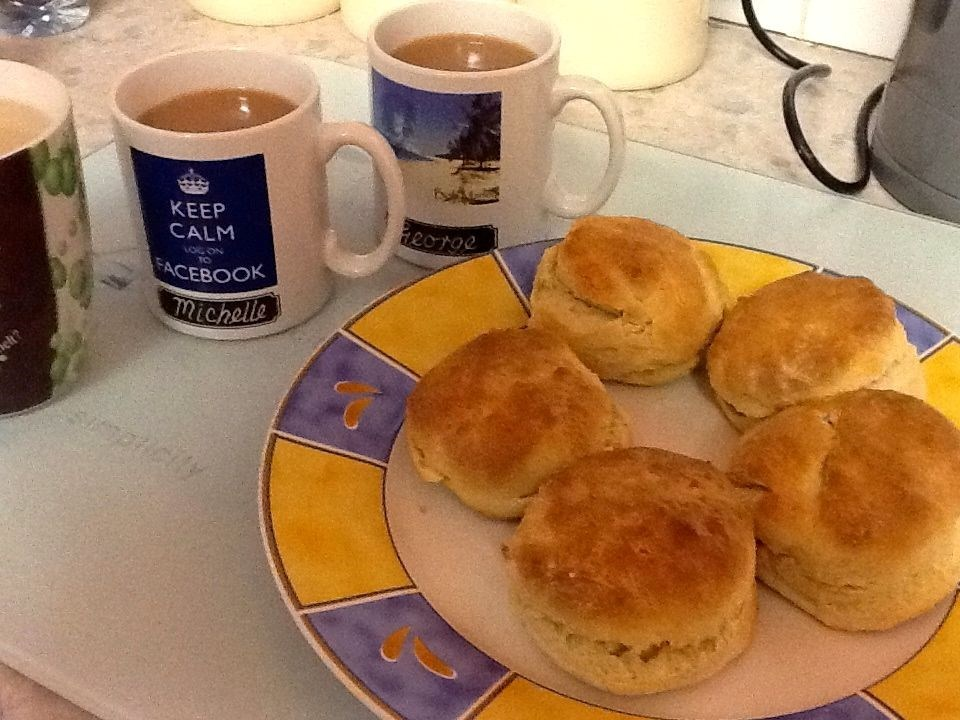 me, you and wee Michipops enjoyed tea and scones (made by me of course, not Mandy!)