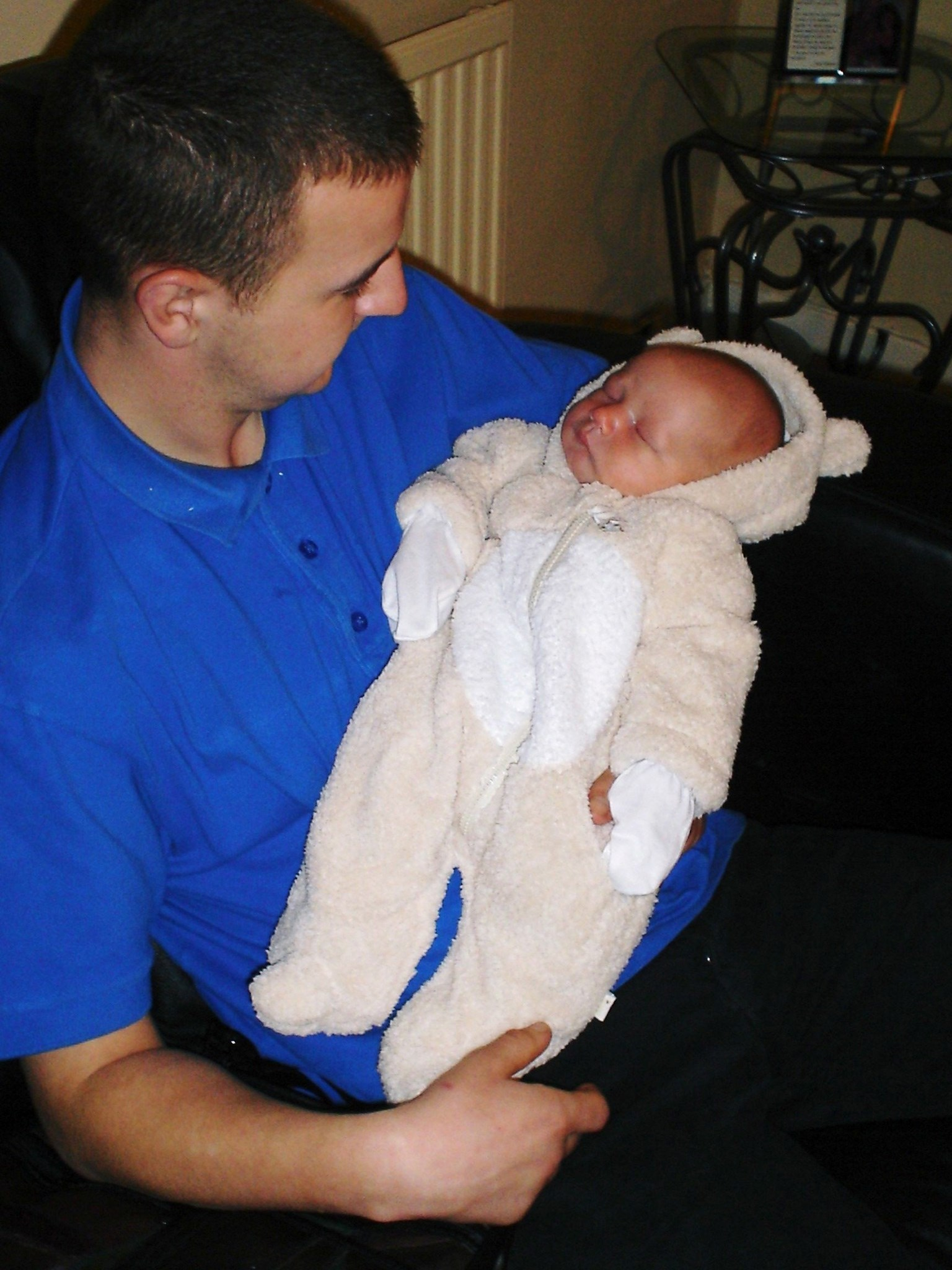 with Max as a baby