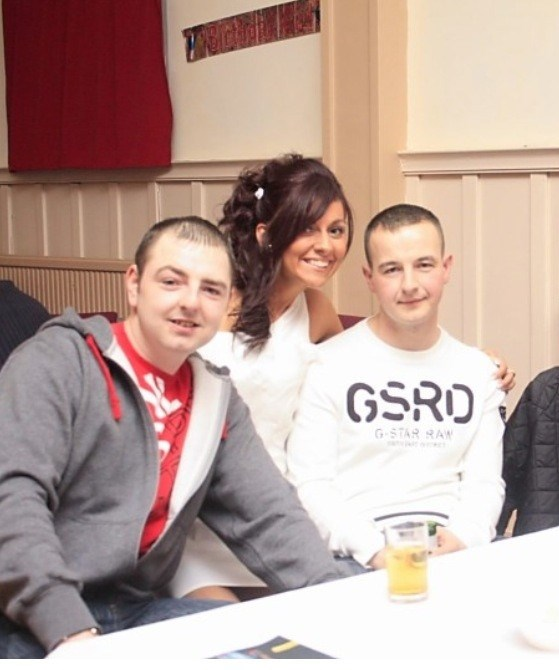 Andy, george and I at my 21st x this was moons ago now lol