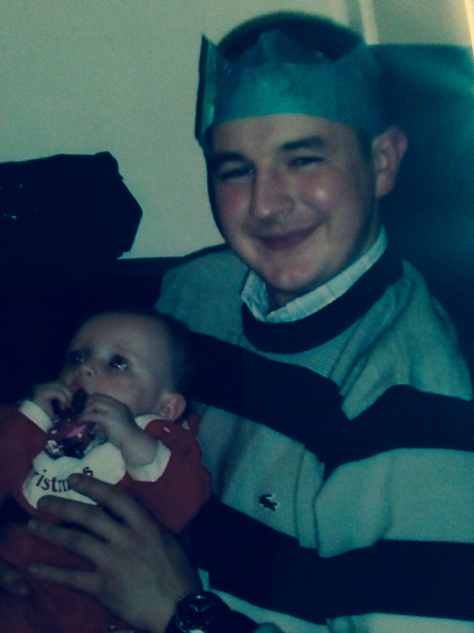 Danni first Christmas with. Uncle George xx