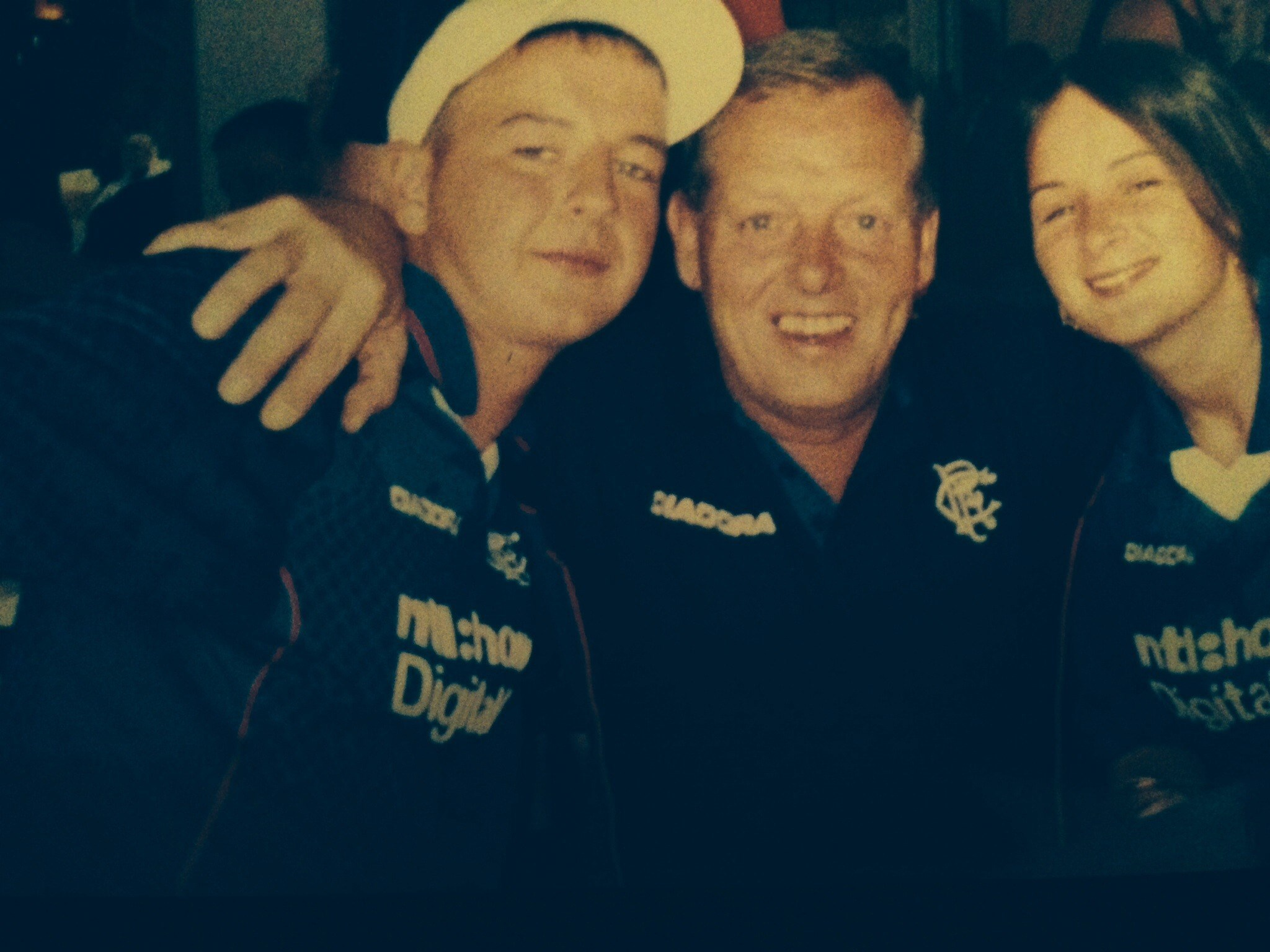 Benidorm holiday.  We parted liked we gas too, bowling about with rangers tops on xx