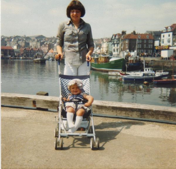 Julie & Shirley at Scarborough 1979