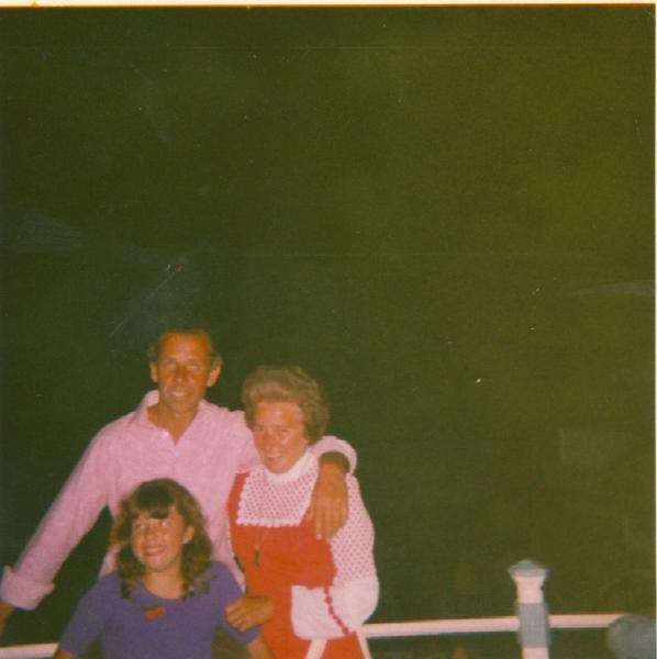 Julie with Mum & Dad at Weymouth