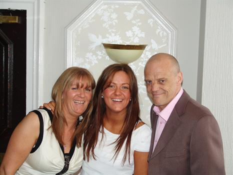 Chris with Wife & Daughter