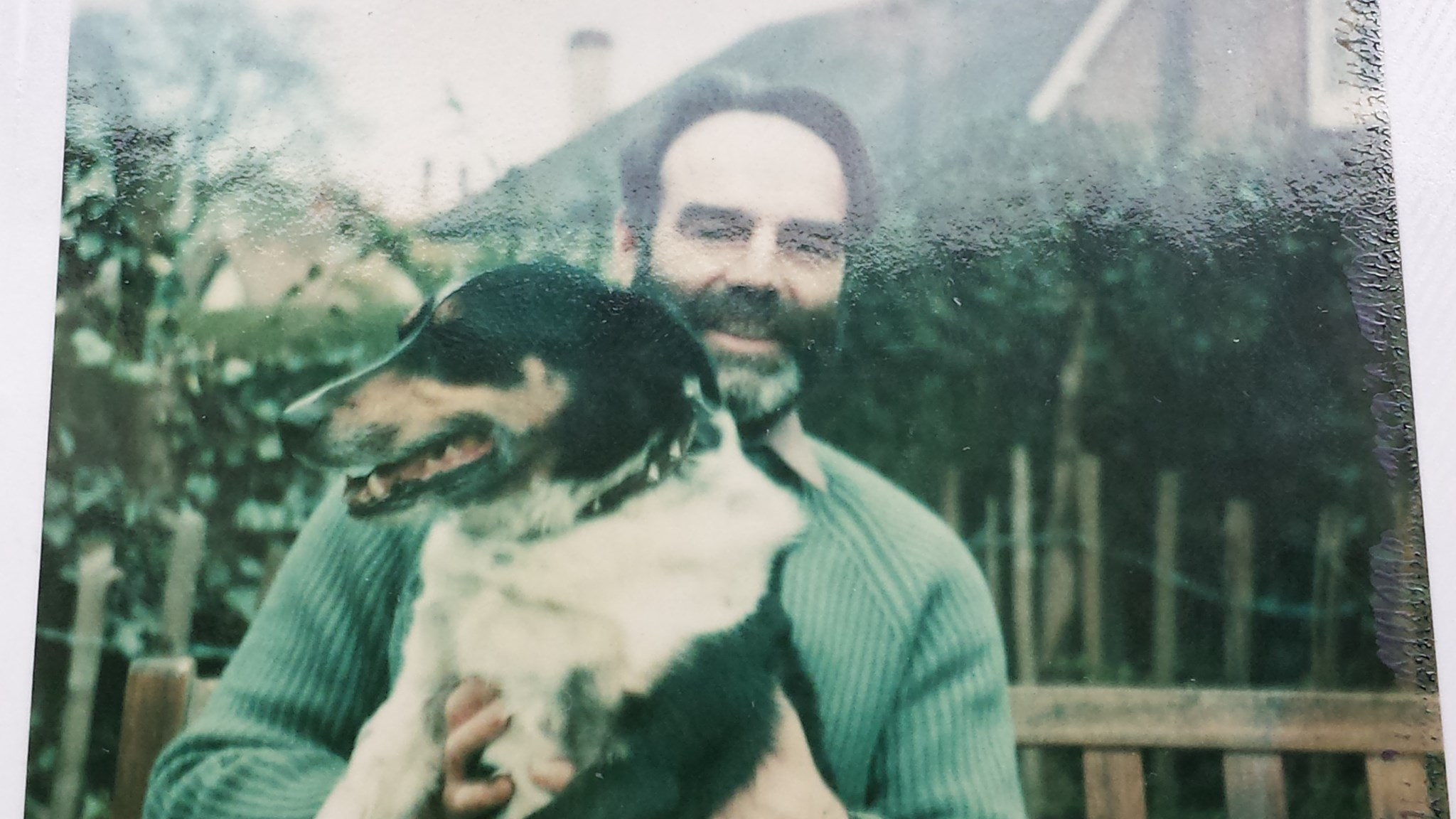 Dad with Will the dog: it was a mutual love!
