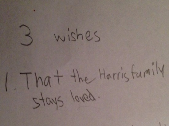 I found this in our daughter's writing today.  xo