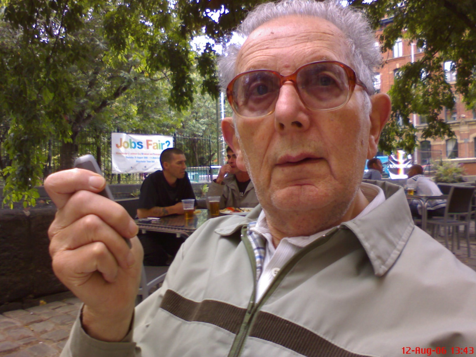 2005 grandad with mobile phone
