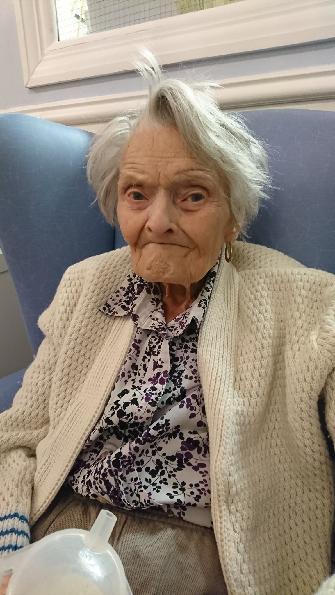This was nan on her 98th birthday in February x