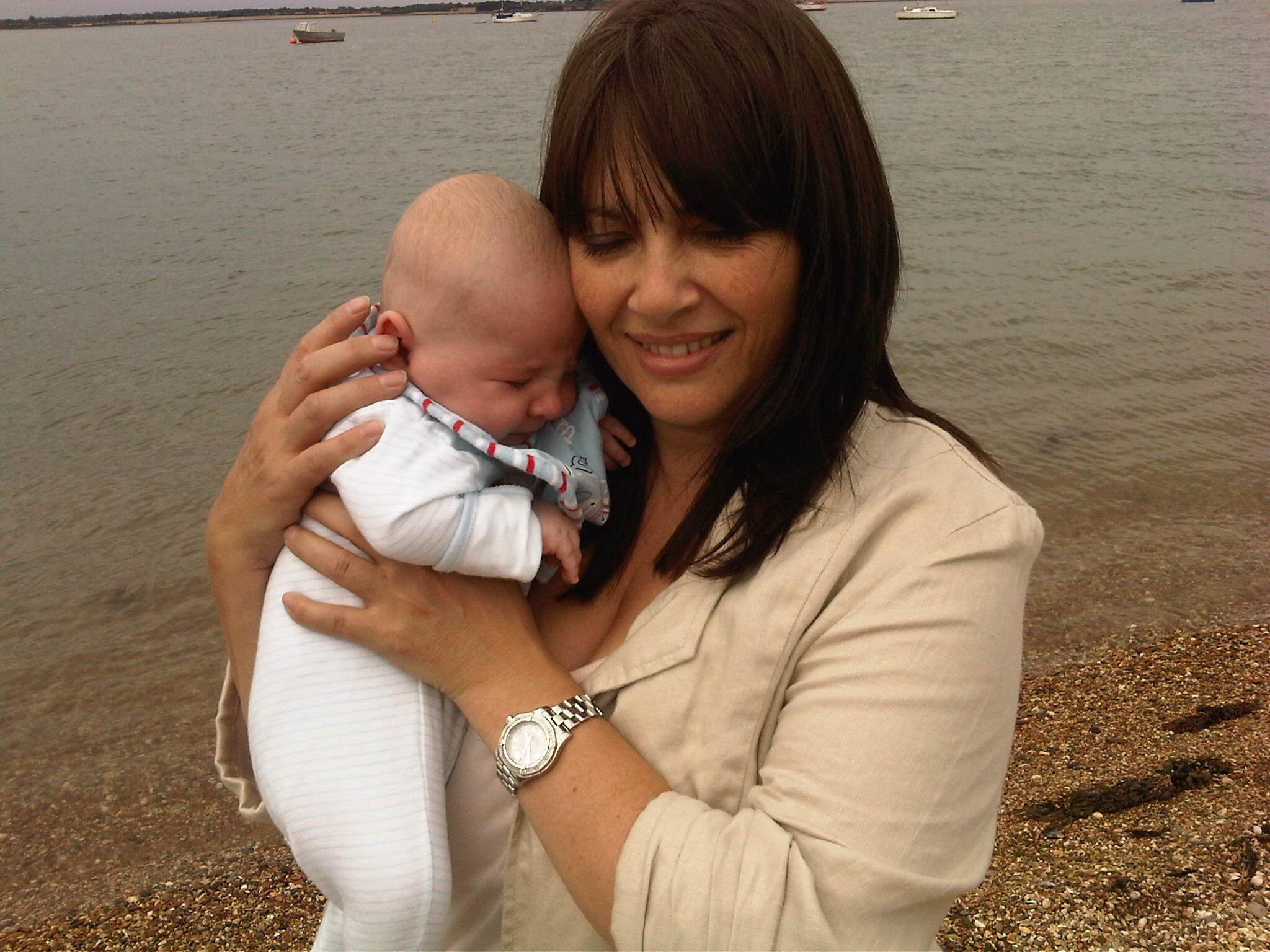 Taylor and mummy at the beach xx  Always remembered x