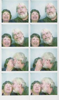 Photobooth photos of Dan & Angel - about 2007?