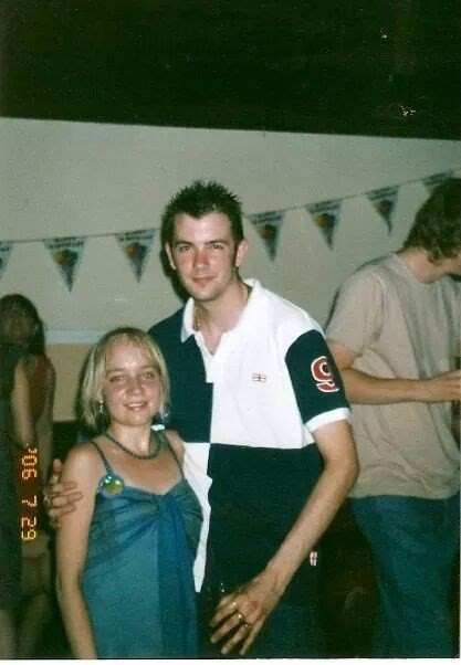 Lornz 18th party here  with her friend Ian