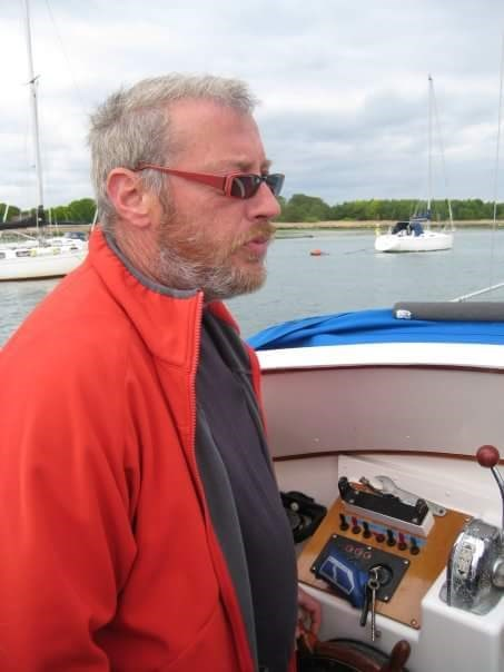 Dad on his boat 2008