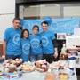 Mum, Dad, Emma and Jamie selling cakes outside NEXT Macclesfield 27/09/14.