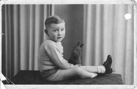 Jim as a young boy