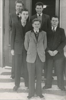 Jim (second from left) and Trevor (back right)