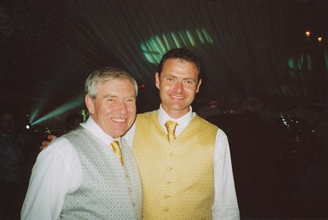 Jim and Ian at Ian's wedding to Gilly