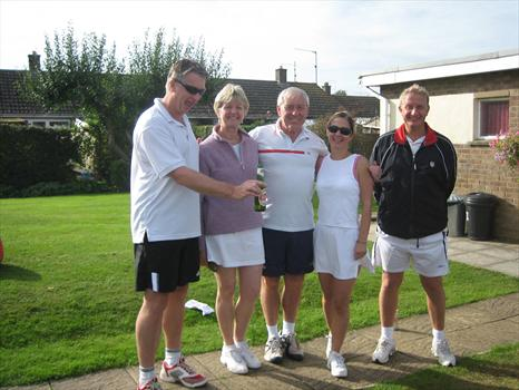 Jim and friends at Oundle Tennis Club