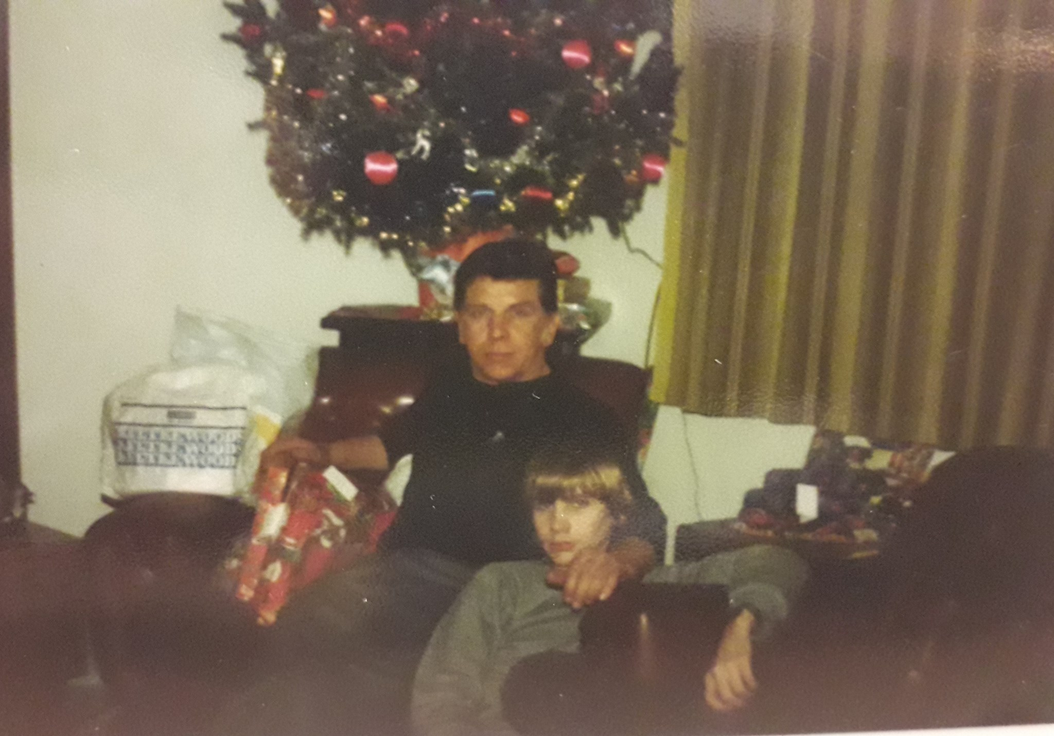 My dad and Gary Xmas eve late 1970,s