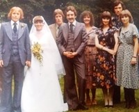 Sue at our Wedding 1976