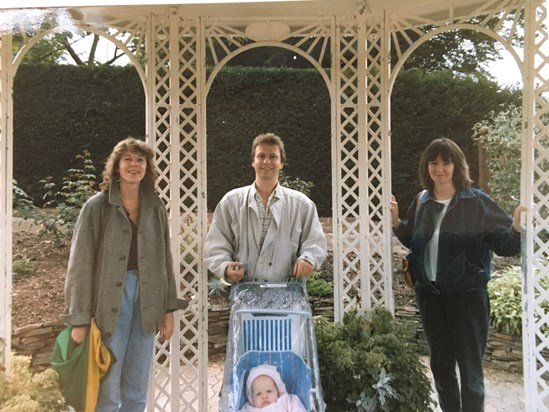 Therese, Stephen, Sue and Hannah, The Rookery, Streatham Common 1986