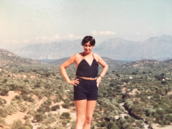 On holiday in Greece, 1983?  Therese