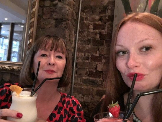 Cocktails with my gorgeous mummy xx
