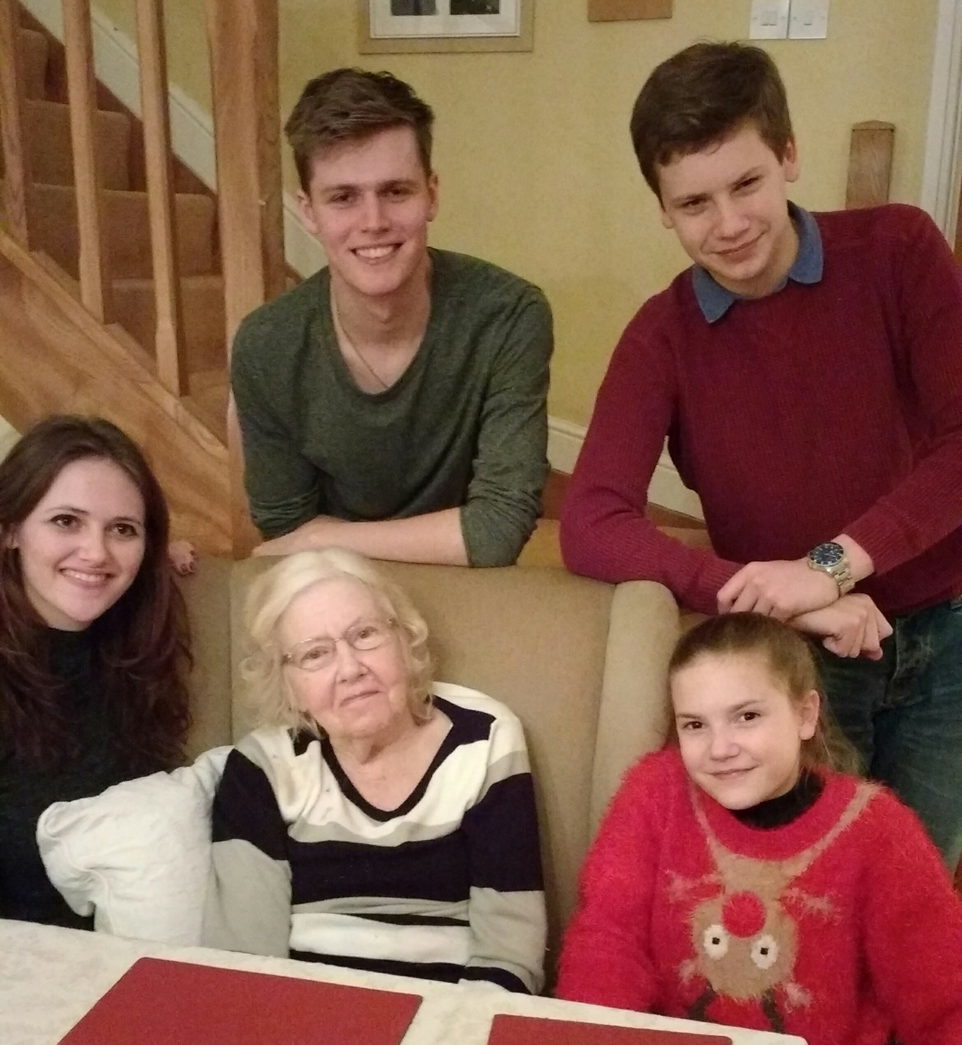 Christmas with the grand children, 2016