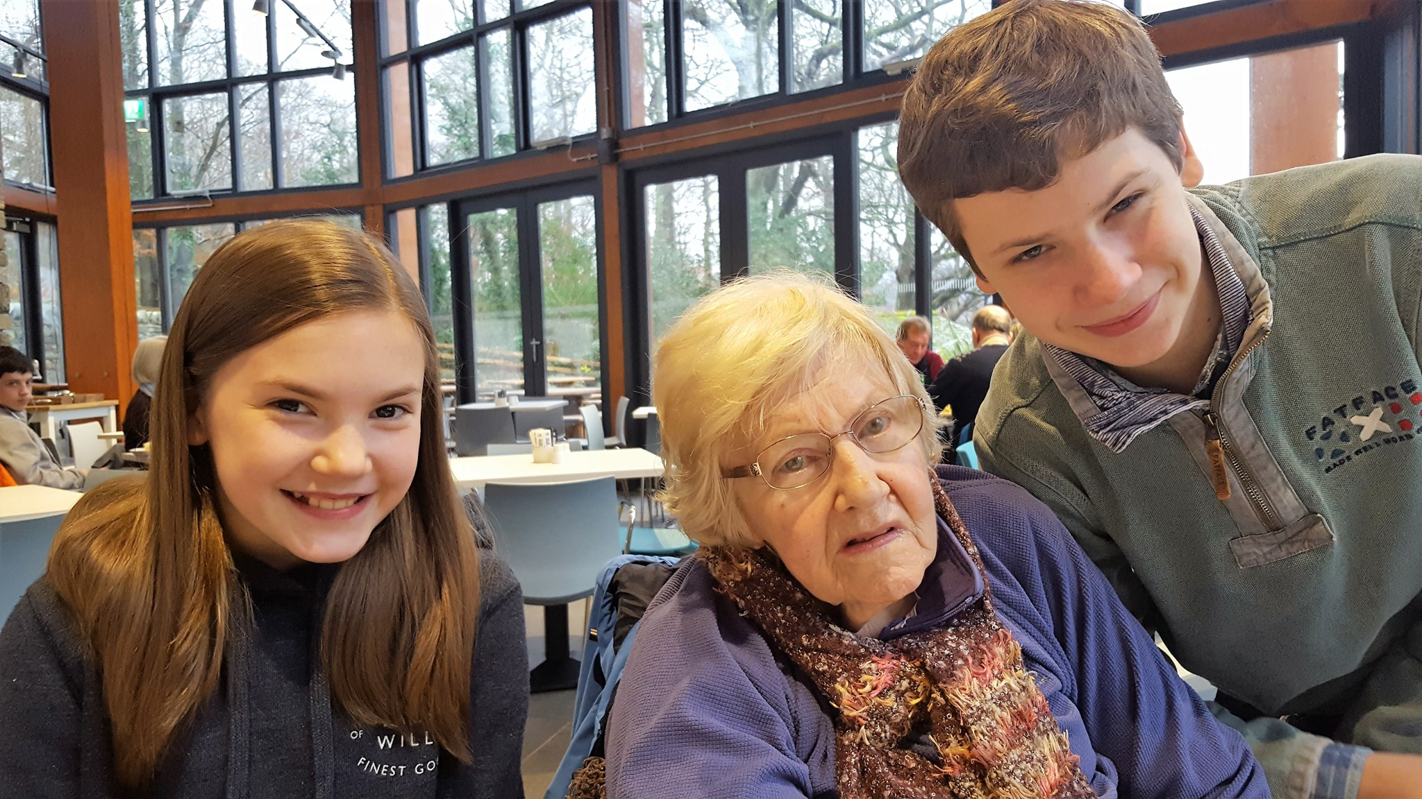 January 2017 - Lunch in Lakeside Cafe, Keswick with Daniel and Sophie