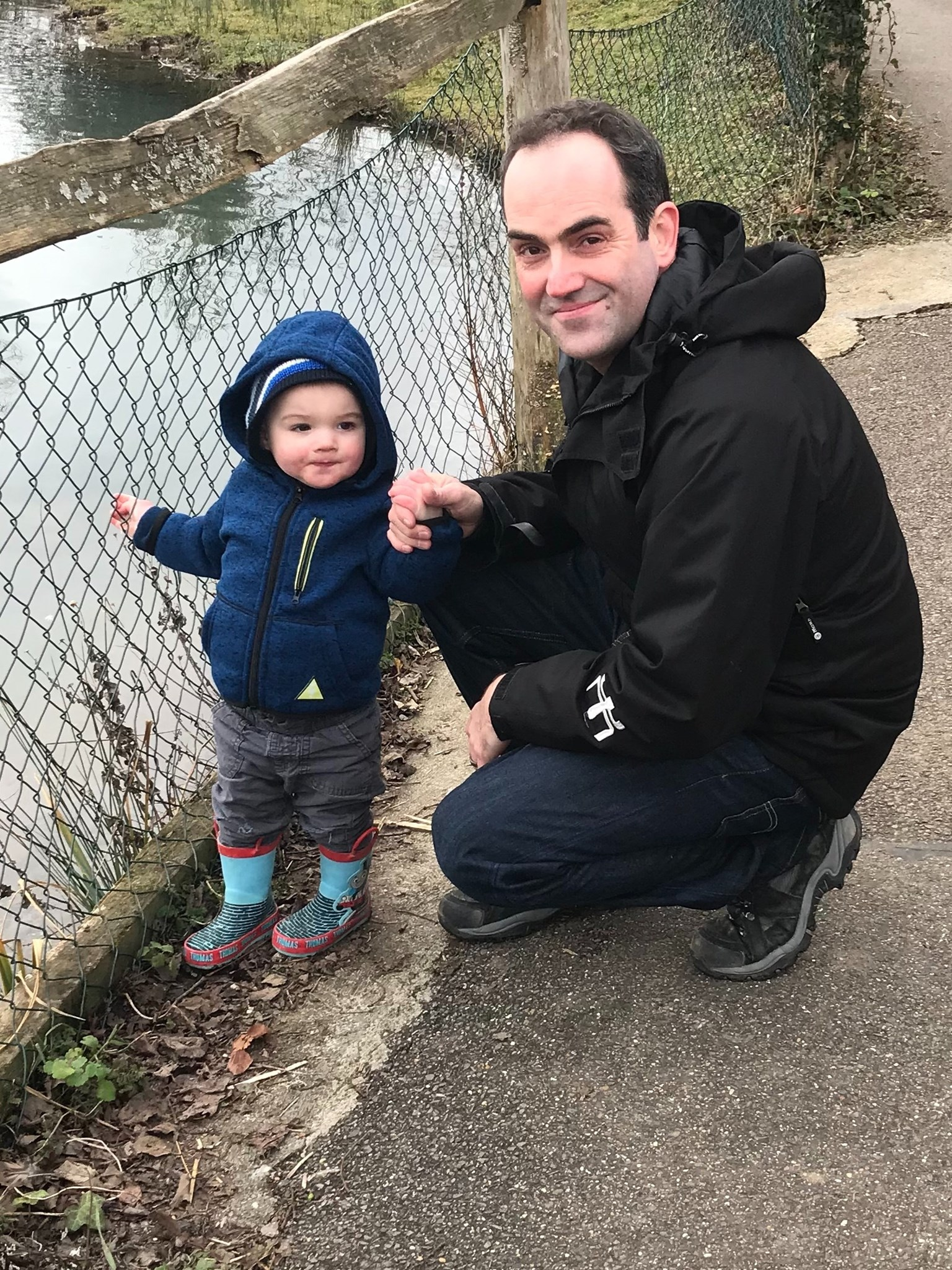 Proud Daddy and Max