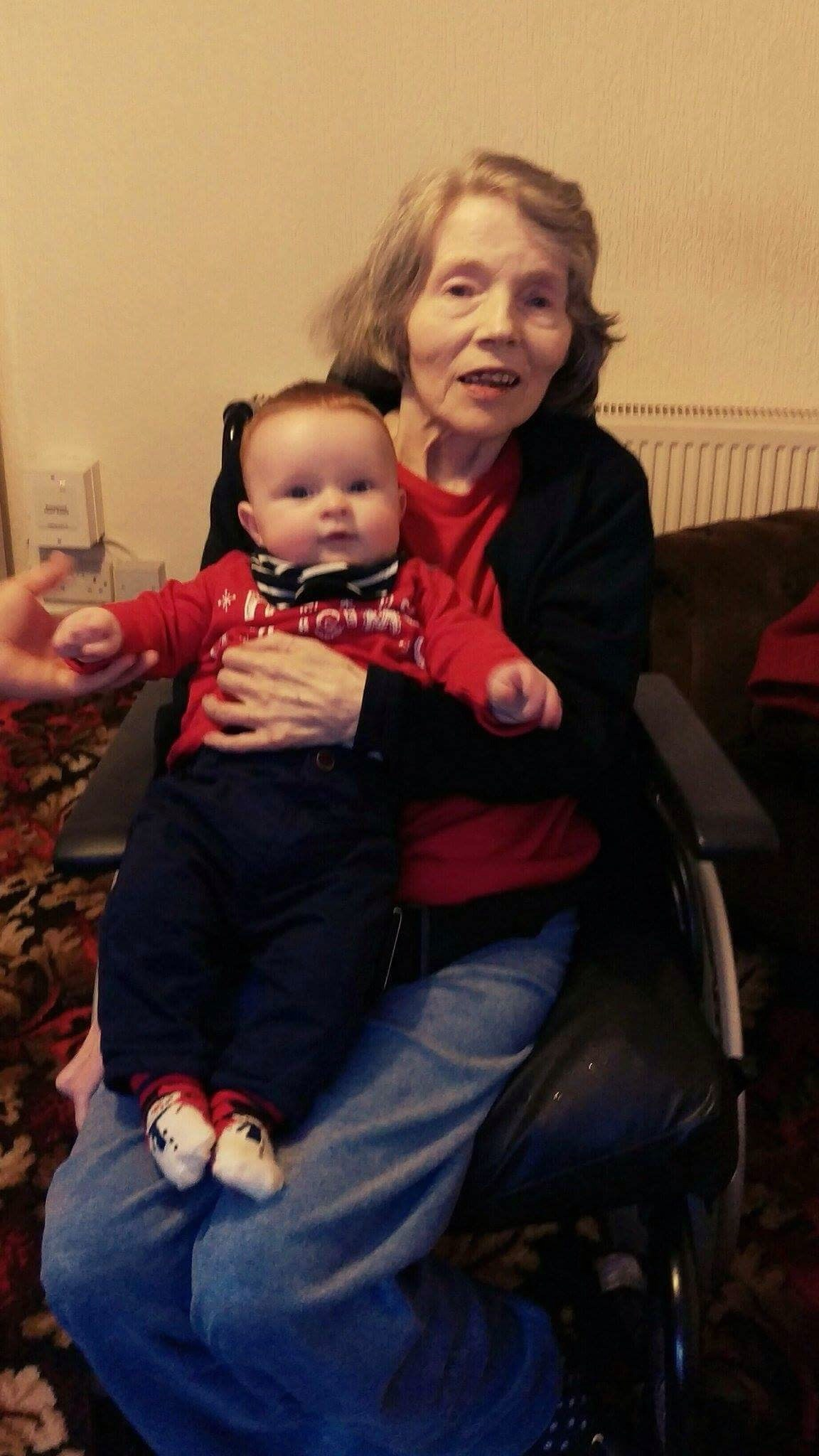 Ethan with Granny Annie