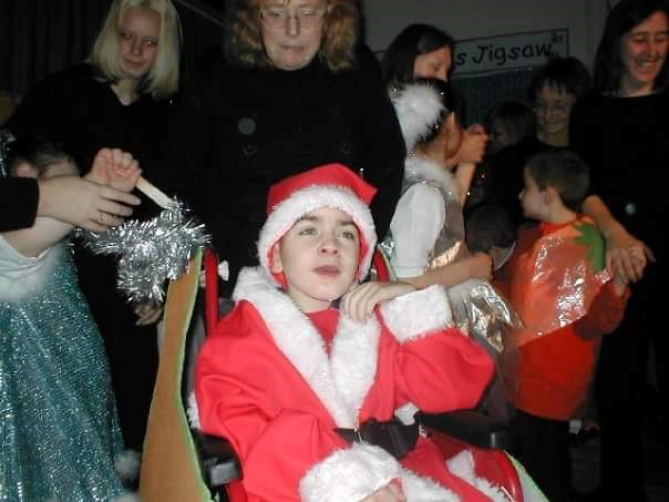 Aaron was Father Christmas at Cherry Oak School