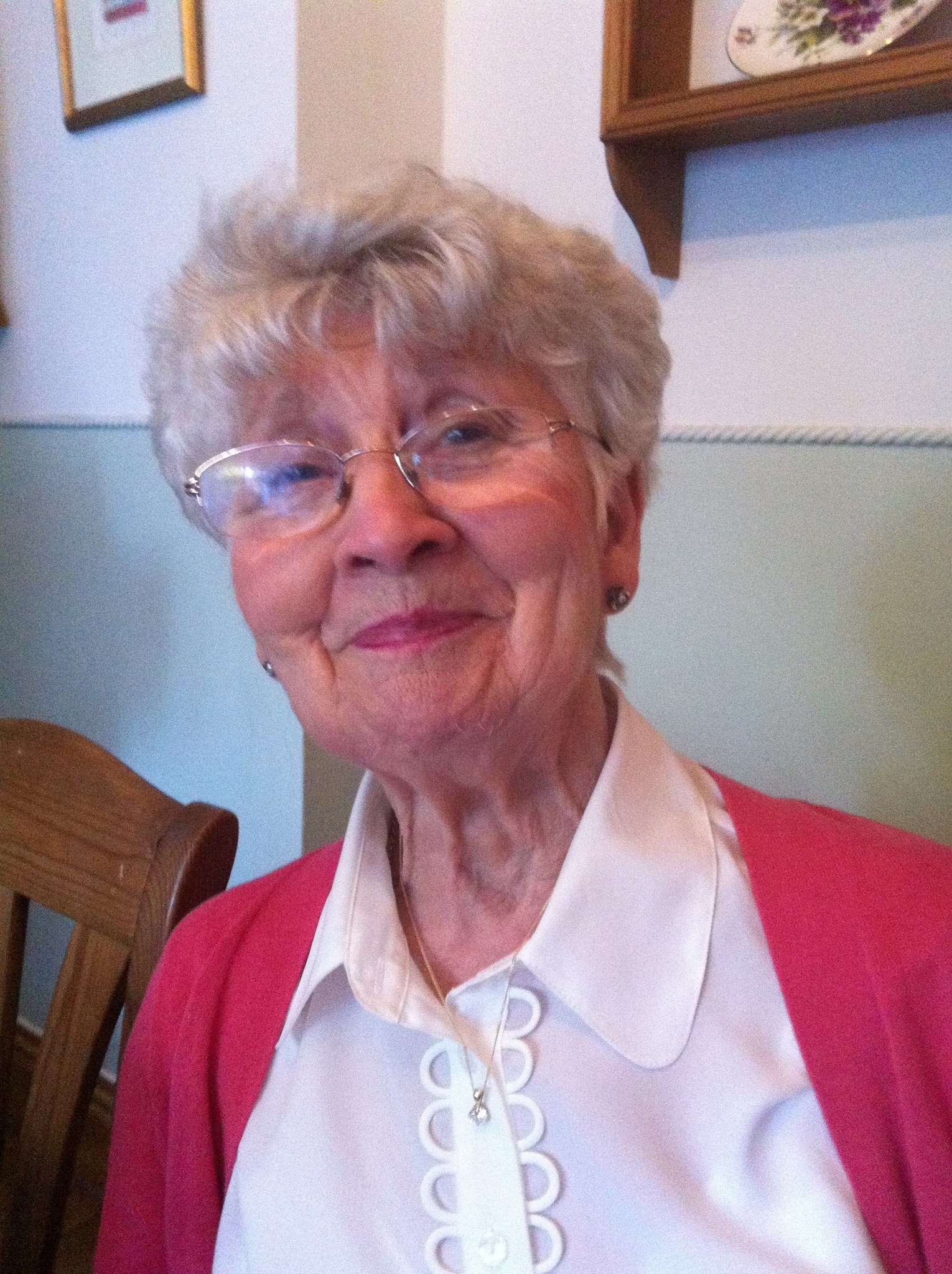 Marian on her 80th birthday