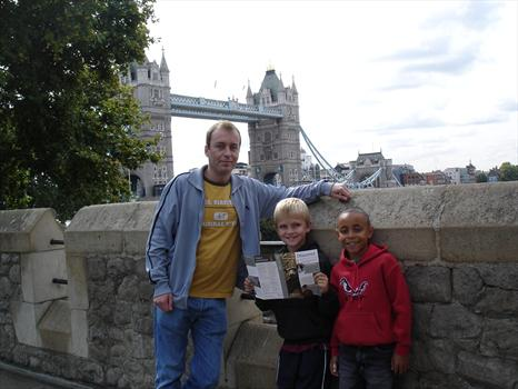 September 2007 -  Liam was our tour guide at the Tower of London