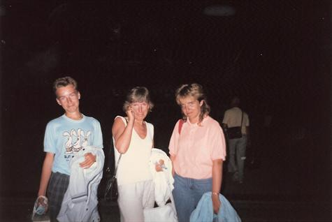 Paul, Mum & Tracey at Zante airport, sad to be going home