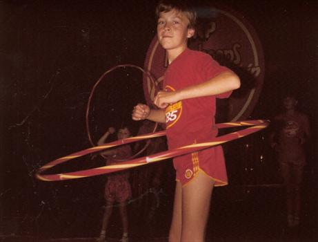 September 1985 - Paul, competing in the National Hoola Hoops Championships at Alton Towers