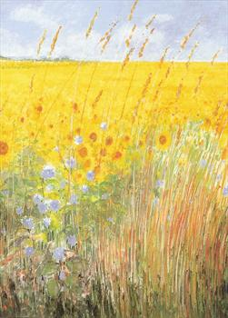 'Field of Sunflowers'  card from  Epilepsy Action