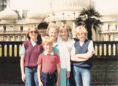 1982 - Tracey, Fiona, Granny, Jill, Nicola and Paul at The Pavilion before the game against Brighton