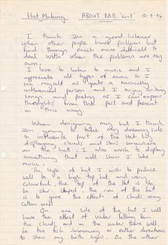 September 1994 - Paul's college assignment (page 2)