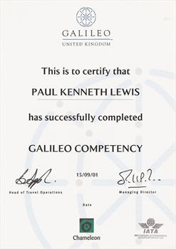 Galileo Competency Certificate
