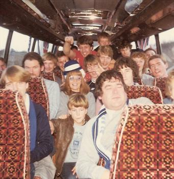 January 1984 - Clacton Branch away trip to Cardiff - 3rd round FA Cup