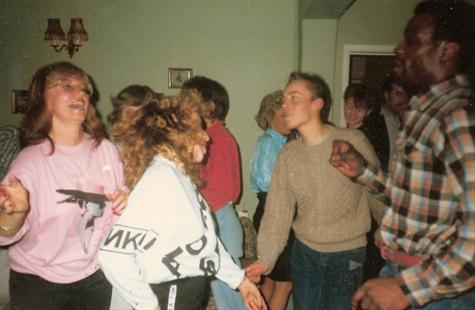 1988 - Dancing the night away at Len's house party