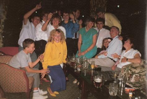 October 1986 - Hotel bar in the 'early hours' -  Away 'weekender'