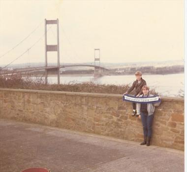 January 1984 - Paul and Tracey at the Severn Bridge